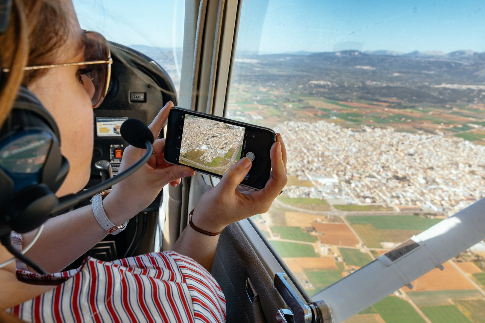 Flug im Sportflugzeug auf Mallorca