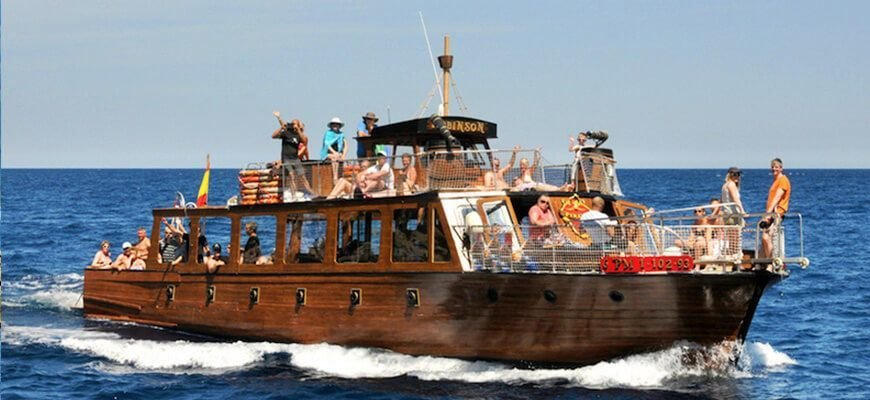 route on tje boat in mallorca