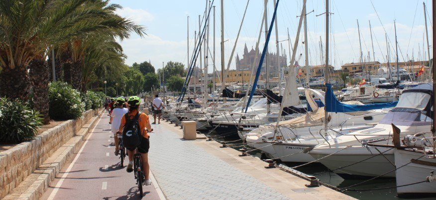 guided bike tour in Palma de Mallorca