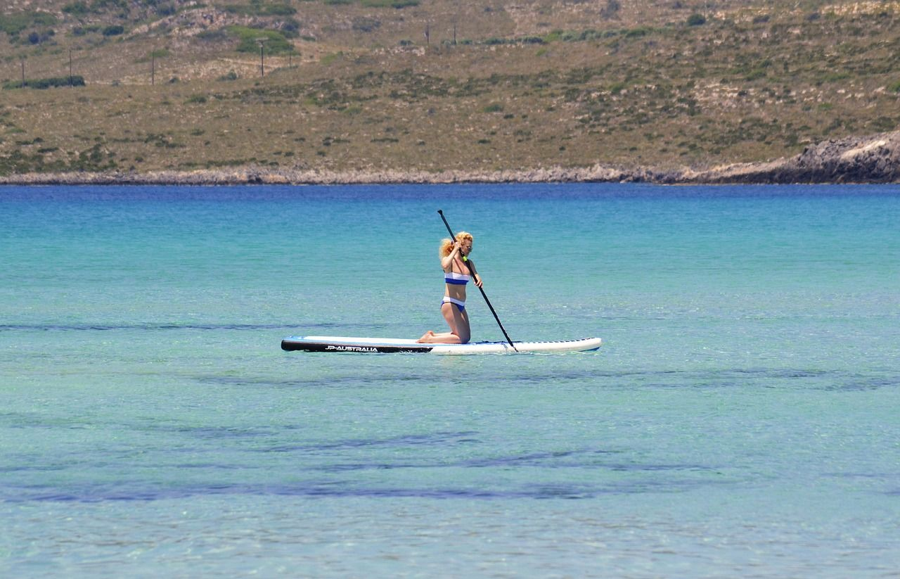 paddling in south Mallorca