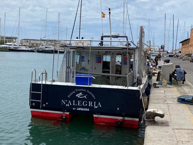 Barco para la pesca de atun en mallorca